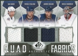 2009/10 Upper Deck SP Game Used Authentic Fabrics Quads #AF4KOCG Khabibulin O'Sullivan Cogliano Gagner 3/10