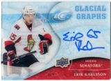 2009/10 Upper Deck Ice Glacial Graphs #GGER Erik Karlsson Autograph