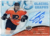2009/10 Upper Deck Ice Glacial Graphs #GGGI Claude Giroux Autograph