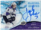 2009/10 Upper Deck Ice Glacial Graphs #GGJJ Jack Johnson Autograph
