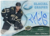 2009/10 Upper Deck Ice Glacial Graphs #GGMR Mike Ribeiro Autograph