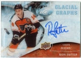 2009/10 Upper Deck Ice Glacial Graphs #GGRS Ron Sutter Autograph