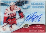 2009/10 Upper Deck Ice Glacial Graphs #GGSU Brandon Sutter Autograph