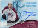 2009/10 Upper Deck Ice Glacial Graphs #GGTJ T.J. Galiardi Autograph
