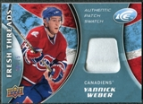 2009/10 Upper Deck Ice Fresh Threads Patches #FTYW Yannick Weber /15