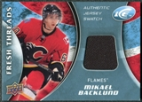 2009/10 Upper Deck Ice Fresh Threads #FTBA Mikael Backlund