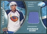 2009/10 Upper Deck Ice Fresh Threads #FTKA Evander Kane