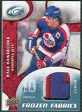 2009/10 Upper Deck Ice Frozen Fabrics Patches #FRDH Dale Hawerchuk /15