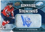 2009/10 Upper Deck Ice Rinkside Signings #RSNB Nicklas Backstrom Autograph