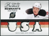 2009/10 Upper Deck OPC Premier Remnants Triples #PRTZP Zach Parise /35