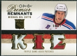 2009/10 Upper Deck OPC Premier Remnants Triples Patches #PRTDE Michael Del Zotto /25