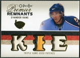 2009/10 Upper Deck OPC Premier Remnants Triples Patches #PRTEK Evander Kane /25