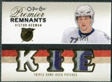 2009/10 Upper Deck OPC Premier Remnants Triples Patches #PRTVH Victor Hedman /25