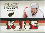 2009/10 Upper Deck OPC Premier Remnants Triples Patches #PRTVI Ville Leino /25