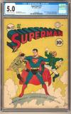 Superman #17 CGC 5.0 (OW-W) *1362263001*