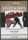 2009/10 Upper Deck OPC Premier Stitchings #PSDP Dion Phaneuf /199