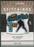 2009/10 Upper Deck OPC Premier Stitchings #PSJT Joe Thornton /199