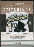 2009/10 Upper Deck OPC Premier Stitchings #PSMF Marc-Andre Fleury /199