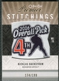 2009/10 Upper Deck OPC Premier Stitchings #PSNB Nicklas Backstrom /199