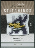 2009/10 Upper Deck OPC Premier Stitchings #PSRM Ryan Miller /199