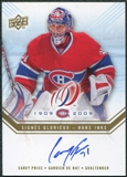 2008/09 Upper Deck Montreal Canadiens Centennial Habs INKS #HABSCP Carey Price Autograph