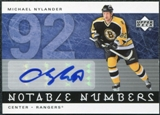 2005/06 Upper Deck Notable Numbers #NMNY Michael Nylander Autograph /92