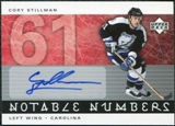 2005/06 Upper Deck Notable Numbers #NCS Cory Stillman Autograph /61