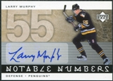 2005/06 Upper Deck Notable Numbers #NLM Larry Murphy Autograph 30/55