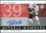 2005/06 Upper Deck Notable Numbers #NTA Tyler Arnason Autograph /39