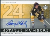 2005/06 Upper Deck Notable Numbers #NTO Terry O'Reilly Autograph /24