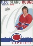 2008/09 Upper Deck Montreal Canadiens Centennial Le Bleu Blanc Rouge Jerseys #LBBRGL Guy Lapointe