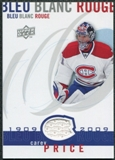 2008/09 Upper Deck Montreal Canadiens Centennial Le Bleu Blanc Rouge Jerseys #LBBRCP Carey Price