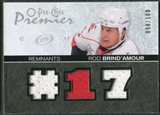 2007/08 Upper Deck OPC Premier Remnants Triples #PRBR Rod Brind`Amour /100