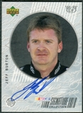 1999 Upper Deck Road to the Cup Signature Collection Checkered Flag #JB Jeff Burton Autograph