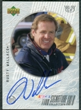 1999 Upper Deck Road to the Cup Signature Collection Checkered Flag #RW Rusty Wallace Autograph