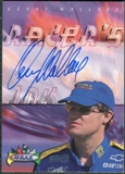 2000 Upper Deck Maxx Racer's Ink #KW Kenny Wallace Autograph