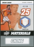 2008 Upper Deck MLS Materials Patch #MM1 Brian Ching 42/50