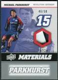 2008 Upper Deck MLS Materials Patch #MM23 Michael Parkhurst 46/50