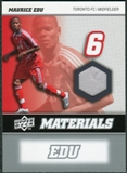 2008 Upper Deck MLS Materials #MM20 Maurice Edu