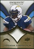 2009 Upper Deck Exquisite Collection Patch Gold #PLT LaDainian Tomlinson /40
