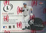 2001 Fleer Legacy Baseball Hobby Box