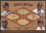 2001 SP Game Bat Milestone #GHSK Luis Gonzalez, Todd Helton, Gary Sheffield, & Jeff Kent Bat