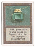 Magic the Gathering Unlimited Single Mox Emerald MODERATE PLAY (VG/EX)