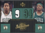 2002/03 Upper Deck Inspirations #114 J.R. Bremer & Paul Pierce Jersey #1143/1500