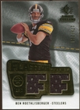 2008 Upper Deck SP Rookie Threads Flashback Fabrics 175-200 #FFBR Ben Roethlisberger /200