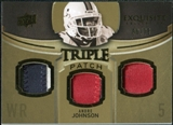 2010 Upper Deck Exquisite Collection Single Player Triple Patch #ETPAJ Andre Johnson /75