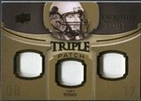 2010 Upper Deck Exquisite Collection Single Player Triple Patch #ETPTR Tony Romo /75