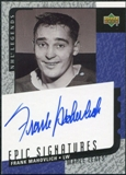 2000/01 Upper Deck Legends Epic Signatures #FM Frank Mahovlich Autograph