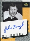 2000/01 Upper Deck Legends Epic Signatures #JB John Bucyk Autograph
