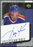 2000/01 Upper Deck Legends Epic Signatures #JK Jari Kurri Autograph